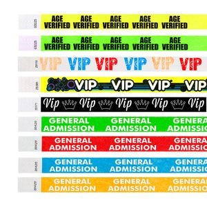 "¾"" Tyvek® In-Stock Design Age Verified/VIP/Admissions Wristbands"